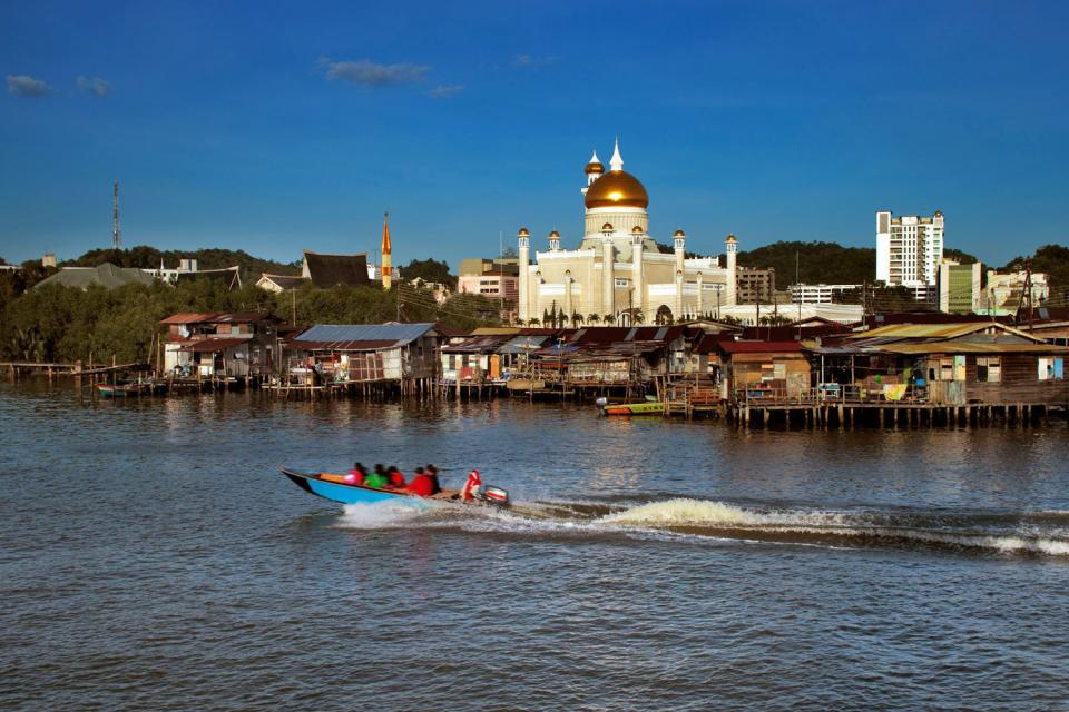 The few seaside resorts , Brunei