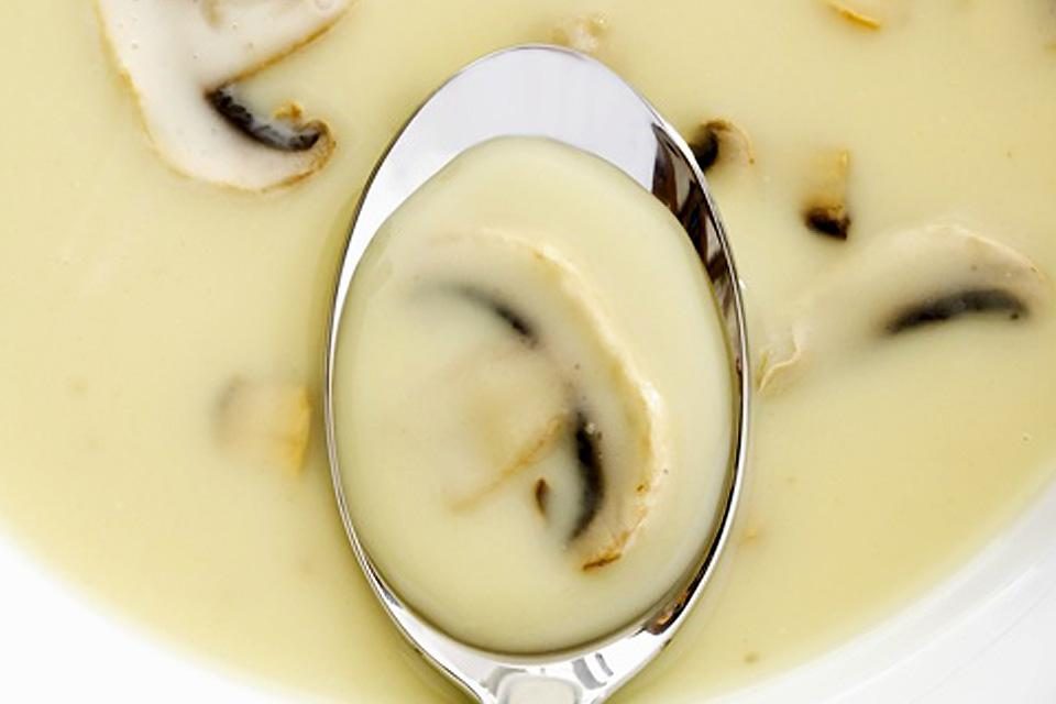 Moutarde de Meaux mustard , Mushroom soup , France