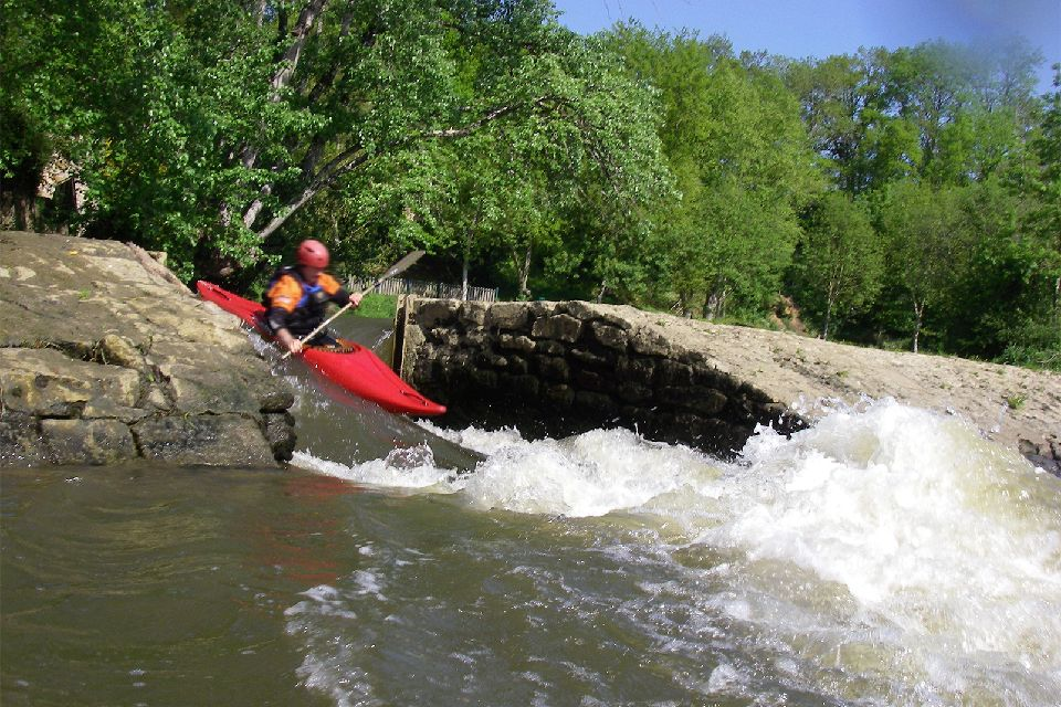 Char à voile et kayak , France