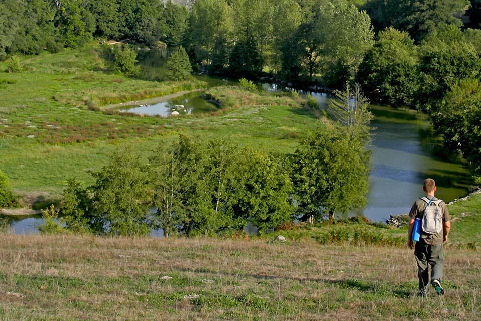 La randonnée , Pays du bocage vendéen , France