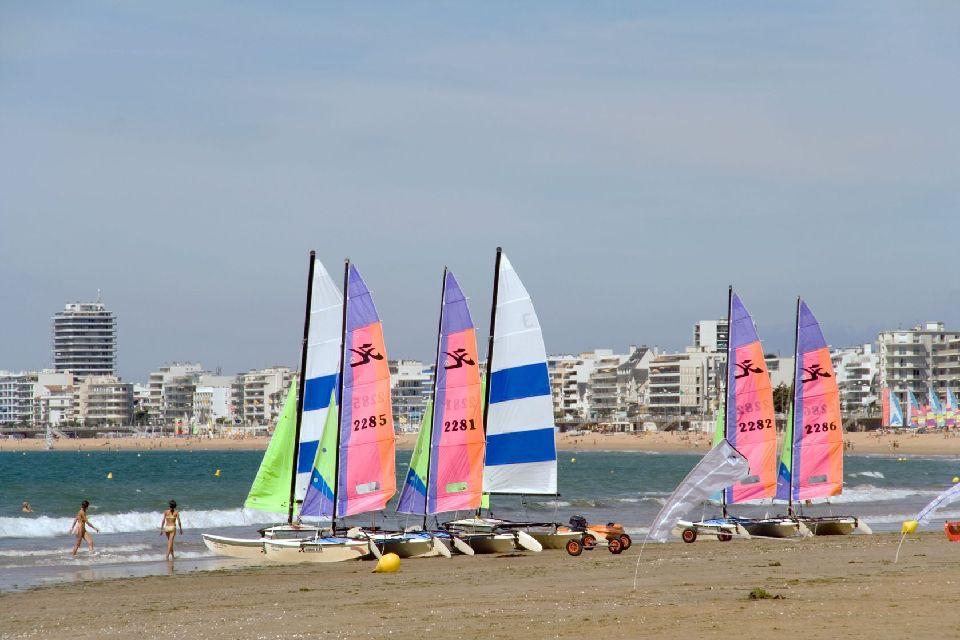Les côtes ligériennes , La plage de La Baule , France