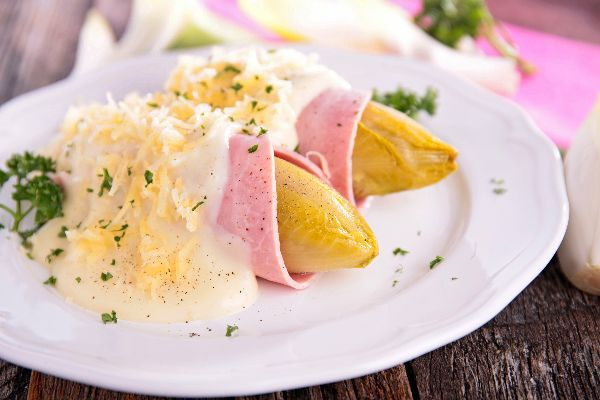 Endives , Chicory with ham , France