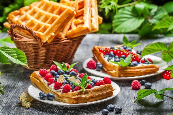 Waffles , A plate of waffles , France