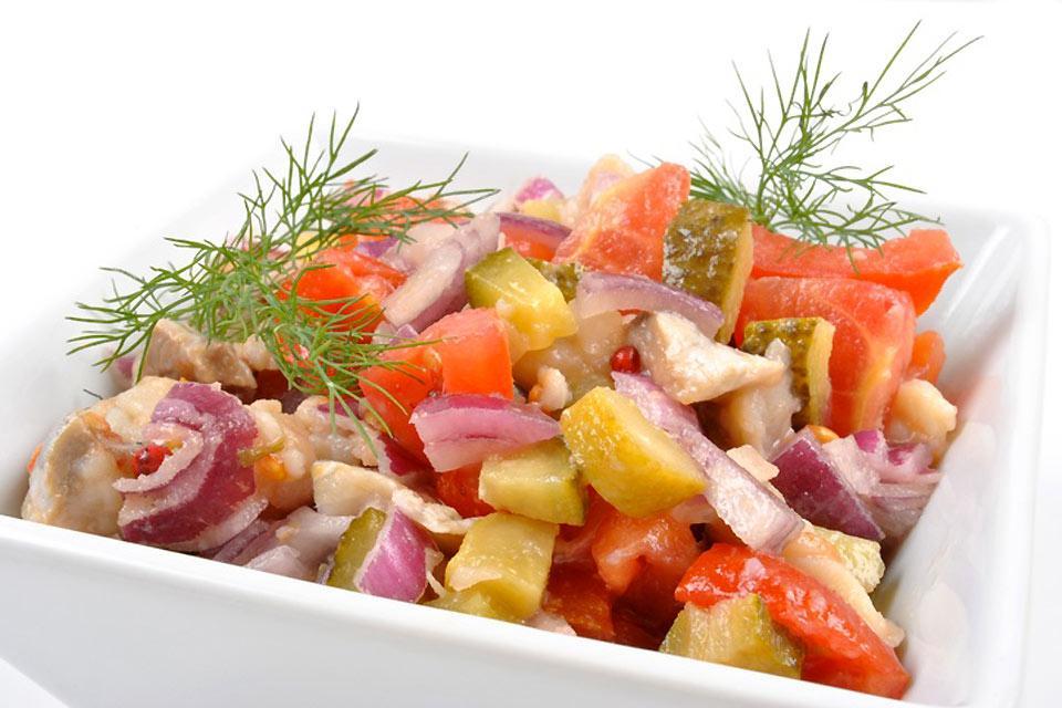 Herring , A herring salad , France