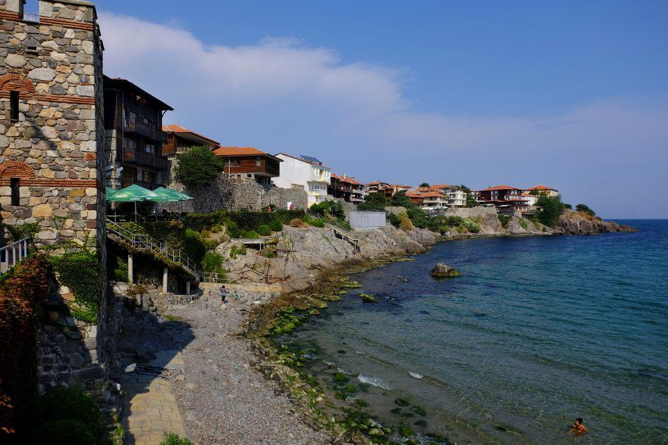 Die Ansicht einer Stadt, Die Dörfer im Süden, Die Küsten, Bulgarien