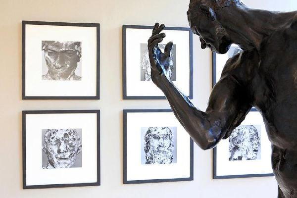 'Musée des Beaux-Arts et de la Dentelle' (Fine Arts and Lace Museum) in Calais , A sculpture by Rodin , France