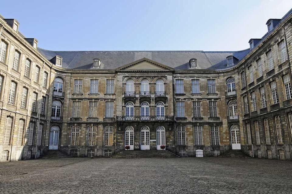 'Musée des Beaux-Arts' (Fine Arts Museum) in Arras , The courtyard of the Abbey of Saint Vaast , France