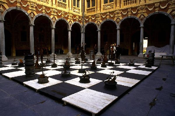 La Vieille Bourse (The Old Stock Exchange) , The cloister of the Vielle Bourse , France