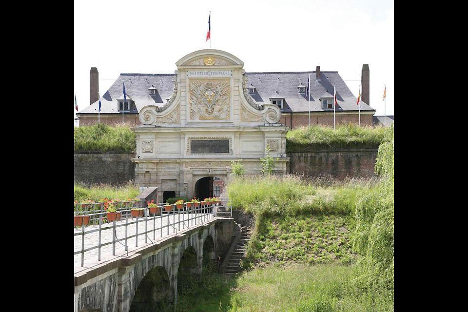 La Citadelle de Lille , Vue de la porte royale , France