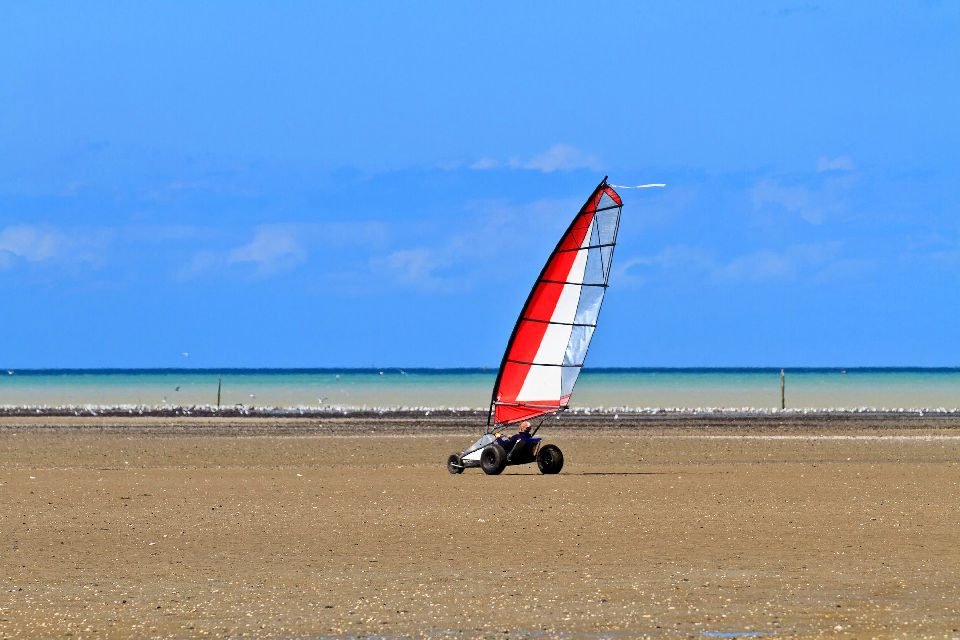 Sand-yachting , Land sailing , France