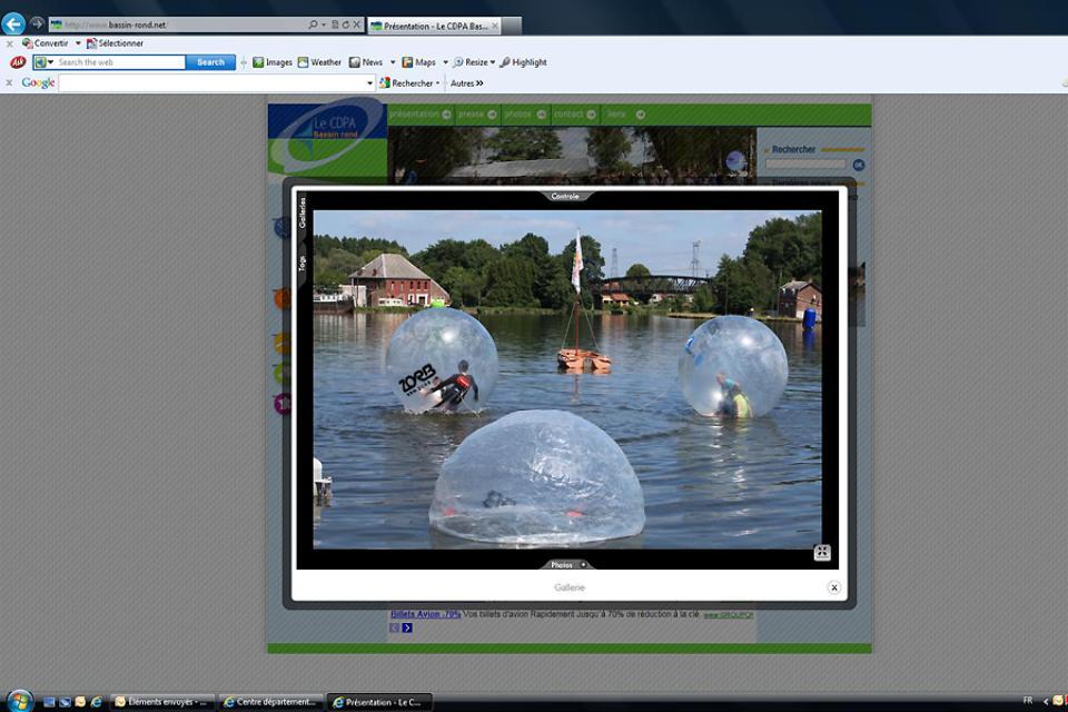 'Centre départemental de plein air du Bassin rond' Outdoors centre , The Bubbles of the Bassin-Rond , France