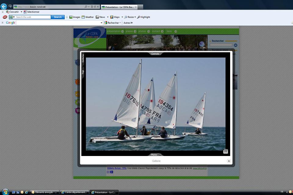 'Centre départemental de plein air du Bassin rond' Outdoors centre , A race in a sailing dinghy , France