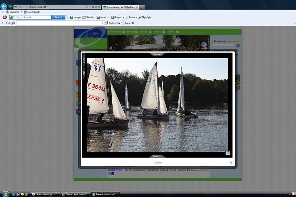 'Centre départemental de plein air du Bassin rond' Outdoors centre , Learning to sail , France