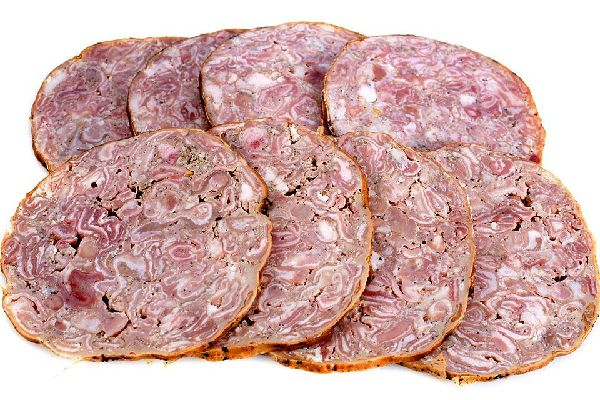 Local specialities , Andouille from Vire , France