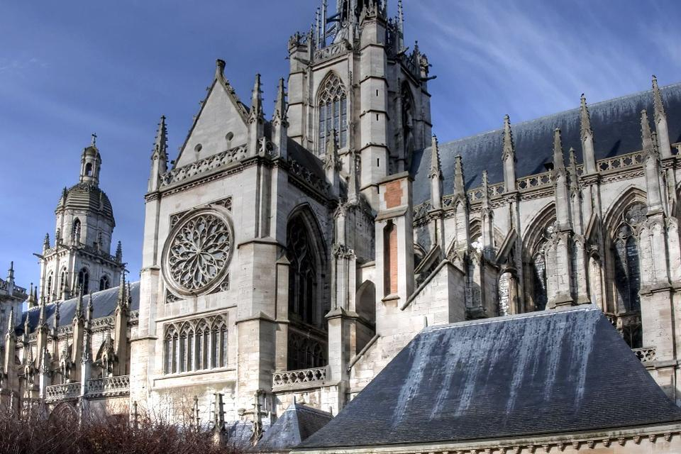 La Catedral de Notre-Dame de Evreux , Tiburio , Francia