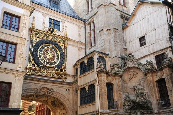The Gros Horloge (?Big Clock') in Rouen , France
