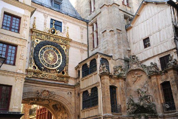 The Gros Horloge (?Big Clock') in Rouen , France