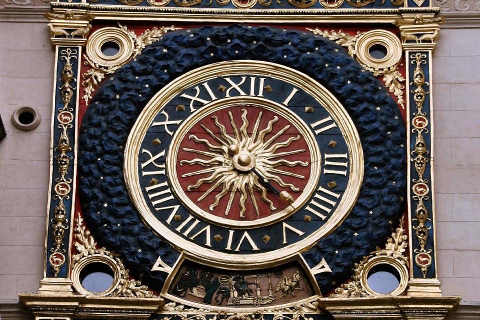 Le Gros Horloge à Rouen , Gros Horloge , France