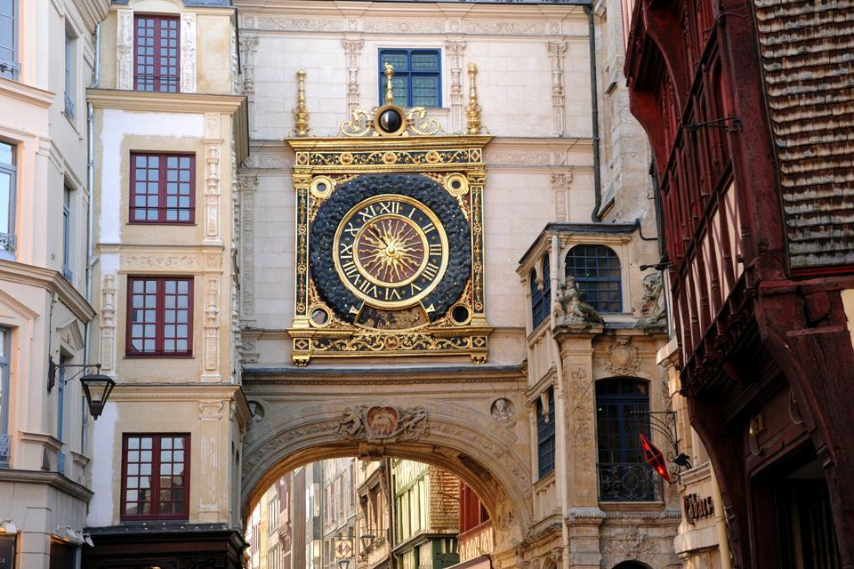 Le Gros Horloge à Rouen , France