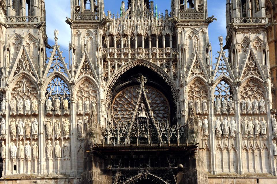 La Cattedrale Notre Dame Di Rouen Normandia Francia