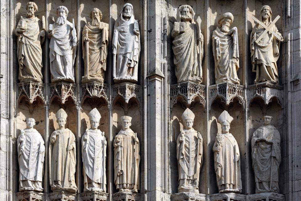 La cathédrale Notre-Dame de Rouen , Portail de la Calende , France