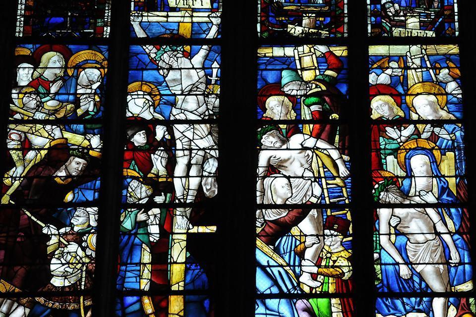 La cathédrale Notre-Dame de Rouen , Portail central Notre-Dame , France