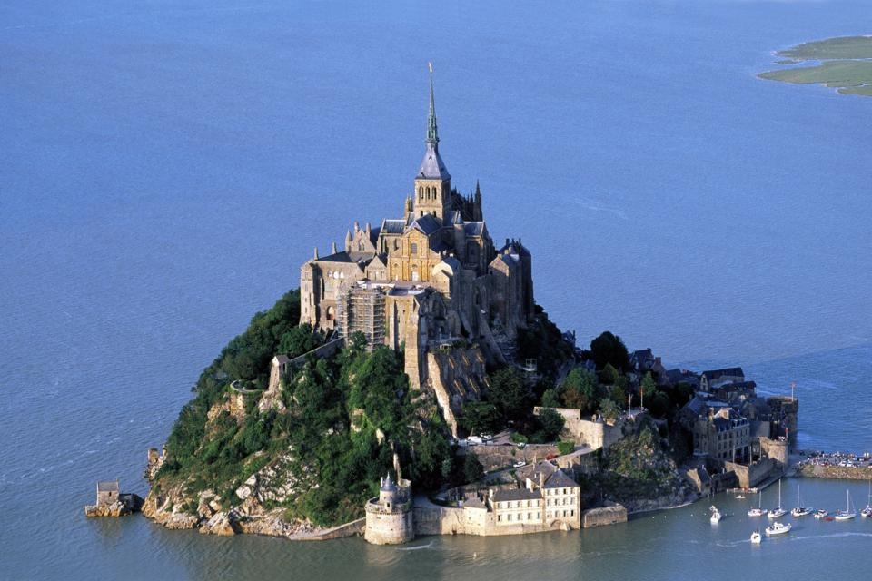 The Mont Saint Michel , The Mont-Saint-Michel Abbey , France
