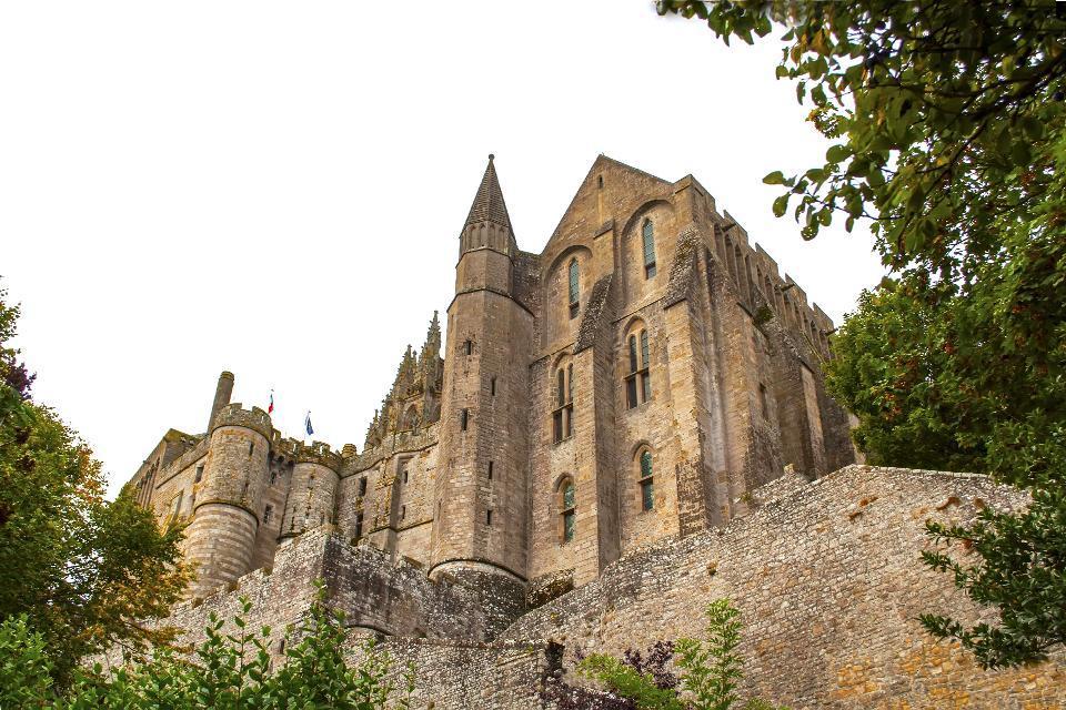 L'architecture du Mont Saint-Michel , France