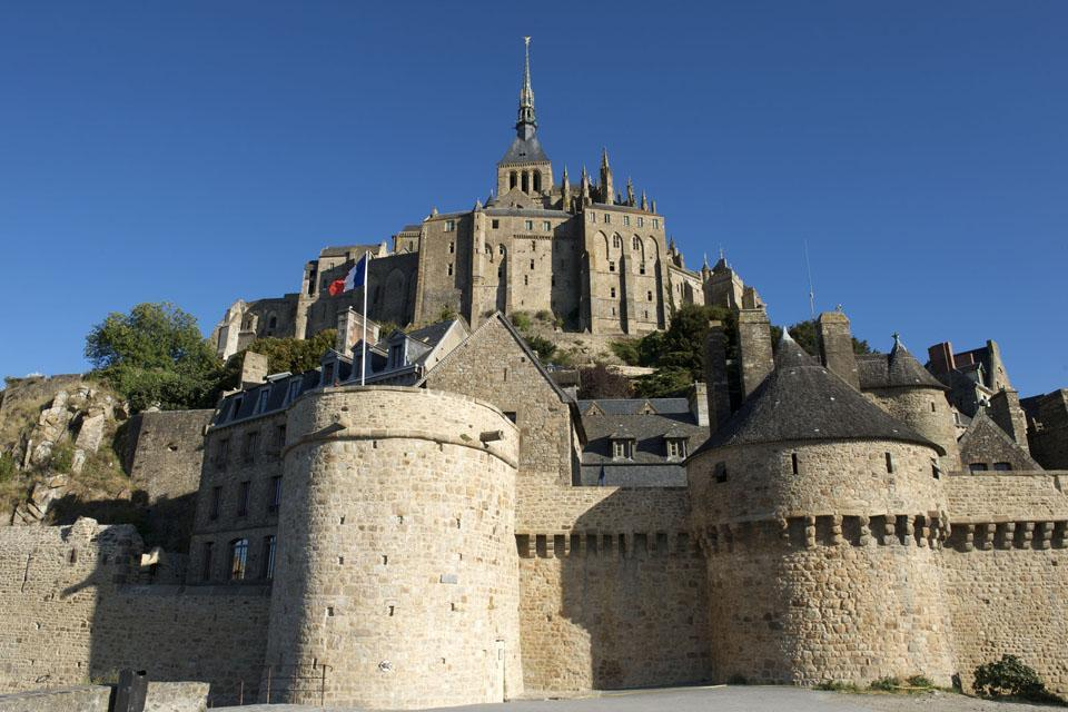 L'architecture du Mont Saint-Michel , France