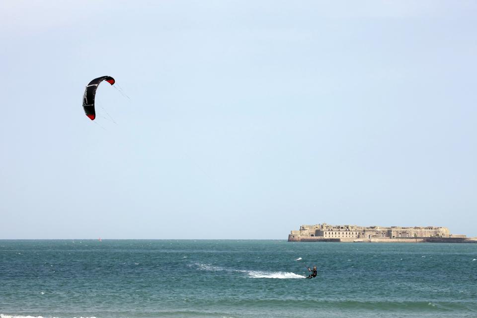 Wandern , Surfen in der Normandie , Frankreich