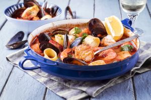 Aziminu , Corsican Bouillabaisse (traditional fish soup , France