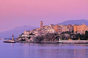 The Citadel of Bastia , The Bastia Citadel at sunrise , France
