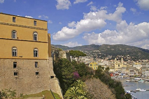 The Citadel of Bastia , Between the Citadel and the port , France