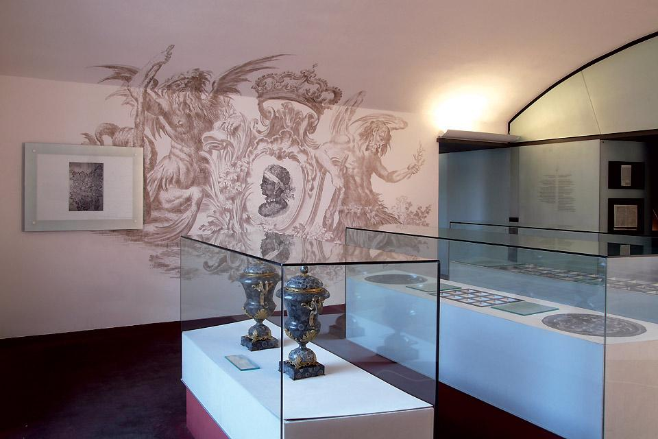 Museum of Corsica in Corte , One of the rooms in the Corsica Museum , France