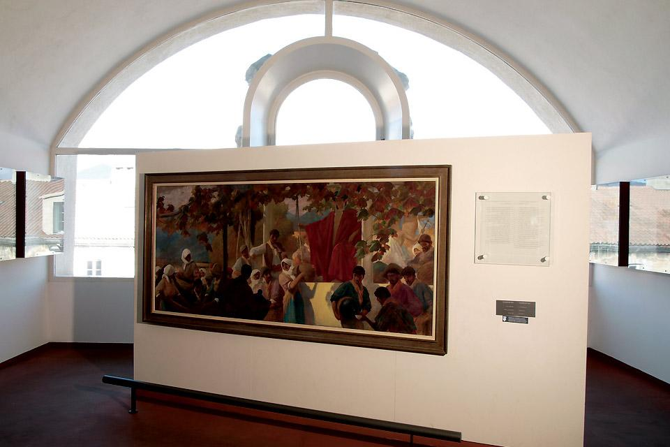 Museum of Corsica in Corte , One of the paintings in the Corsica Museum , France