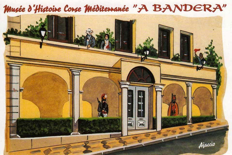 Museo A Bandera , El fresco de la fachada , Francia