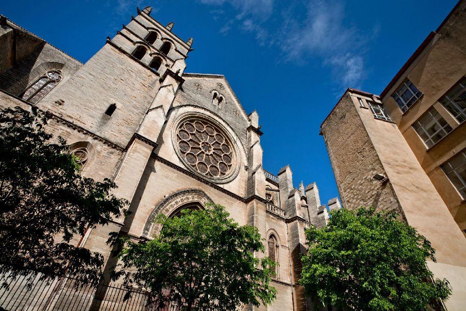 Cathédrale Saint pierre de Montpellier , La façade de la cathédrale de Montpellier , France