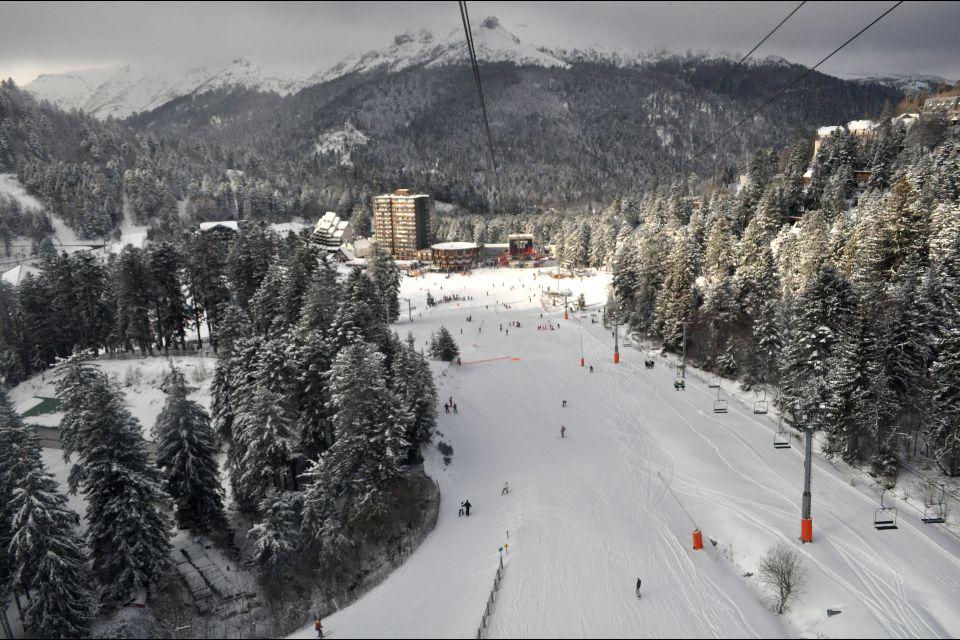 Esquí , La estación de Lioran , Francia