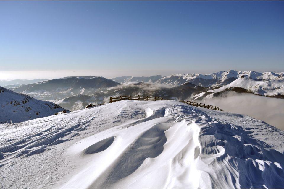 Esquí , Los macizos de Auvernia , Francia