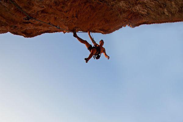 Rock climbing in the Lozère , Rock climbing equipment , France