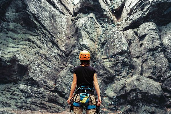 Rock climbing in the Lozère , Lozère: a protected region , France