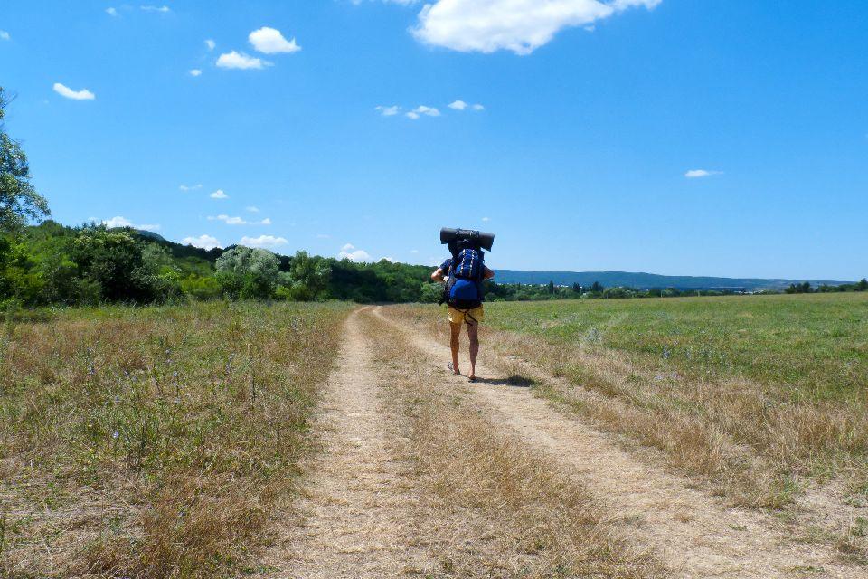 Senderismo en Aude , Las botas de trekking , Francia