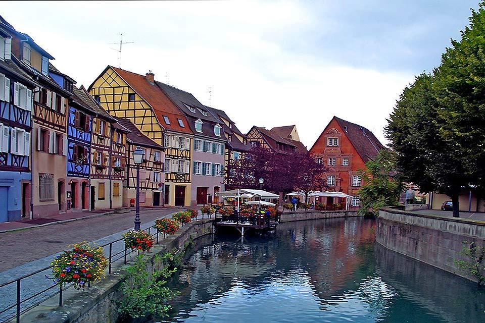 Colmar : Vue de la ville de Colmar - France