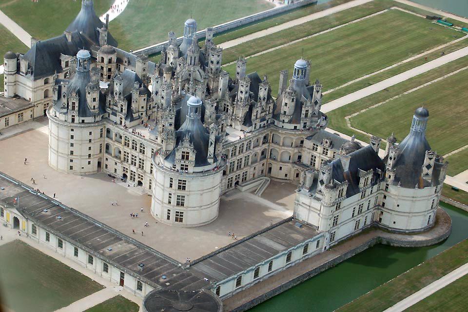 Castello di Chambord , Un tetto impressionante , Francia