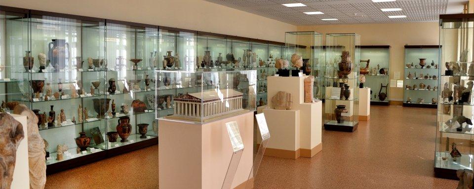 Vitrina del museo de Laon