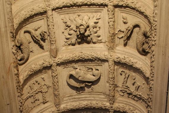 Le plafond des coursives, Château de François Ier, Les monuments, Picardie