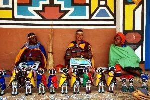 La tribu ndebele , Les Ndébélés , Afrique du Sud