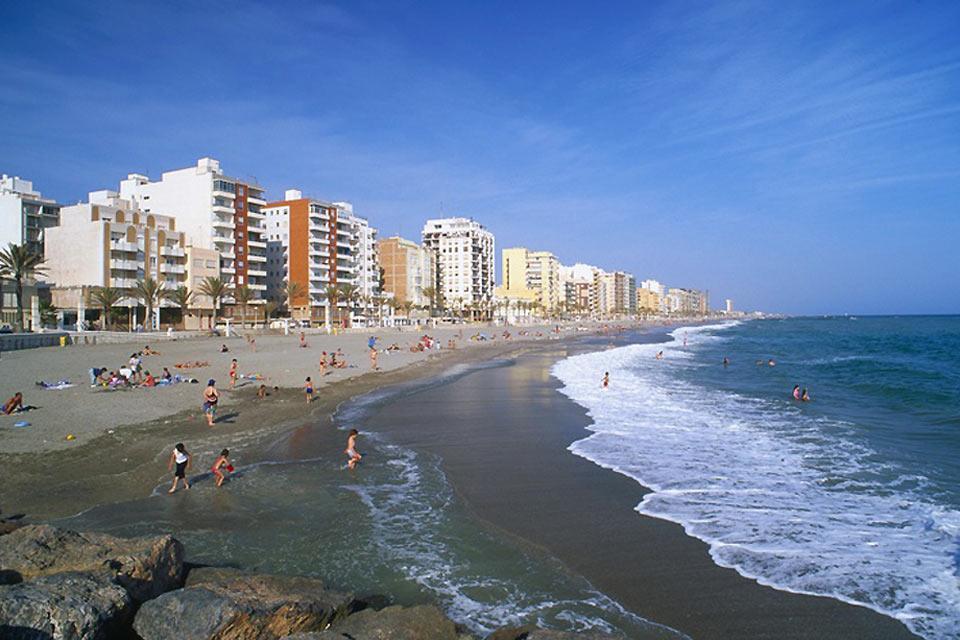 La côte d'Almería , Espagne