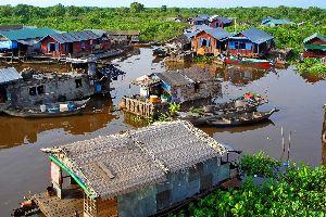 El lago Tonle Sap , El lago Tonlé Sap, Camboya , Camboya
