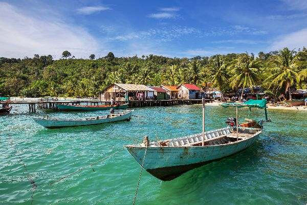 The Gulf of Thailand , The Gulf of Thailand, Kampot , Cambodia